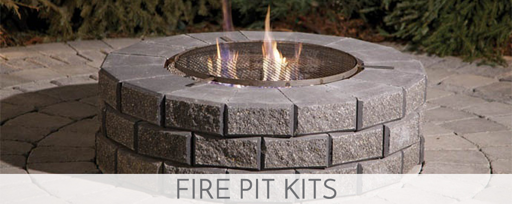 fire pit home depot copper kits square paver kit