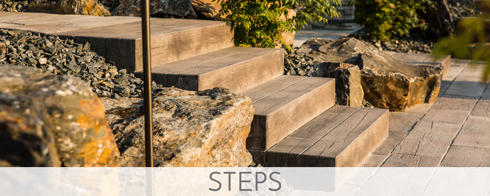 PATIO BLOCKS AND STEPS