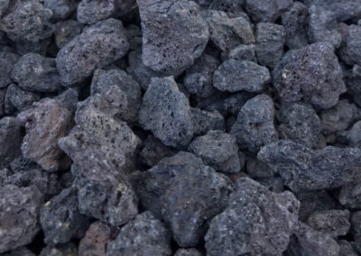 40mm Black Lava Rock